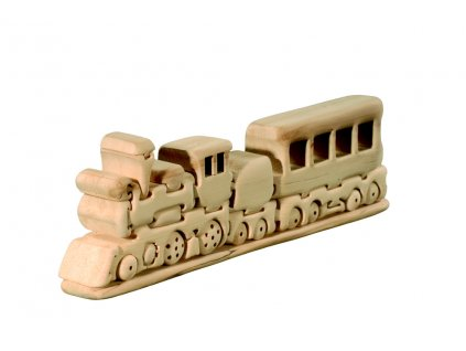 dřevěné 3D puzzle-vláček
