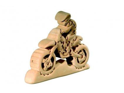 dřevené 3D puzzle-motorka