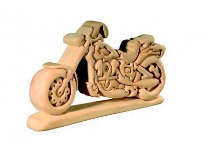 dřevěné 3D puzzle-harley-motorka