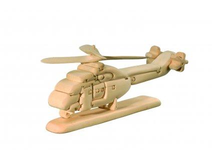 dřevěné 3D puzzle-helikoptéra