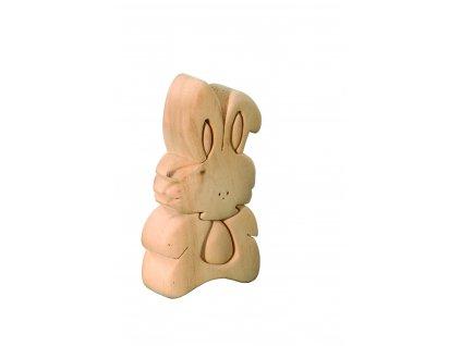 dřevené 3D puzzle-králíček-pro malé děti