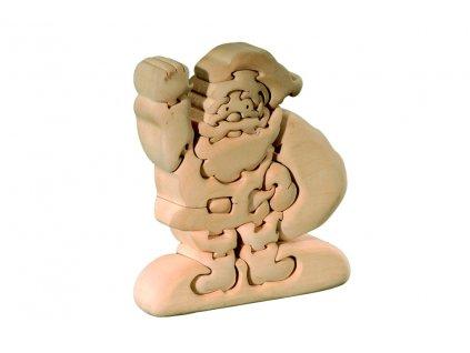 dřevěné 3D puzzle-santa claus