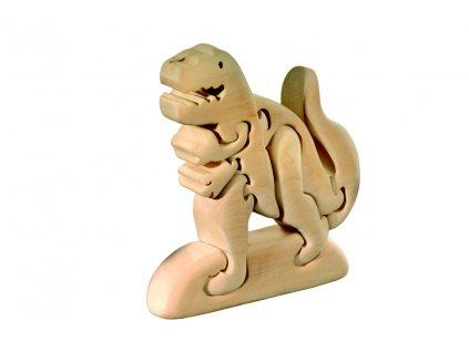 dřevěné 3D puzzle-T-rex