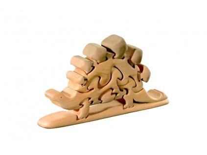 dřevěné 3D puzzle-stegosaurus