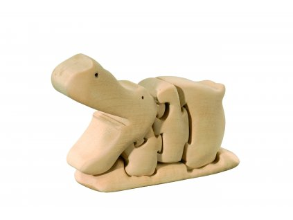 dřevěné 3D puzzle-hroch