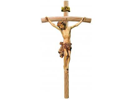 dřevěný Ježíš na kříži- malovaný
