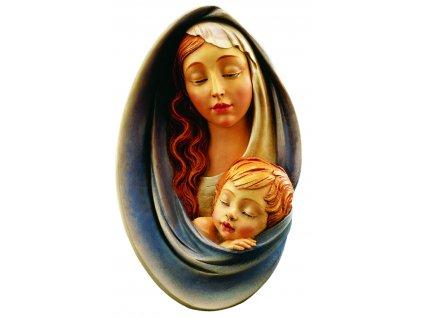 relief madony s dítětem_dřevořezba