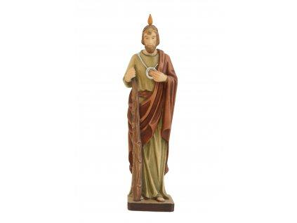 Dřevěná vyřezávaná socha Svatého Tadeáše