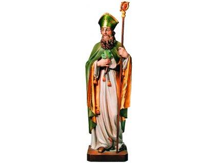 Dřevěná vyřezávaná socha Svatého Patrika