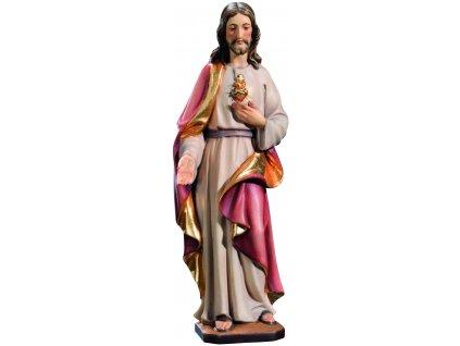 Dřevěná vyřezávaná socha Nejsvětějšího srdce Ježíšovo