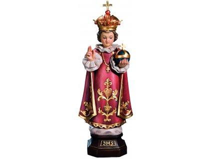 Dřevěná vyřezávaná socha Pražského Jezulátka