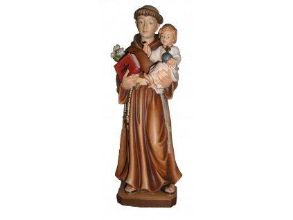 Dřevěná vyřezávaná socha Svatého Antonína