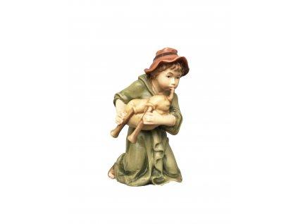 pastýř s dudy dřevěná vyřezávaná postava do beltému