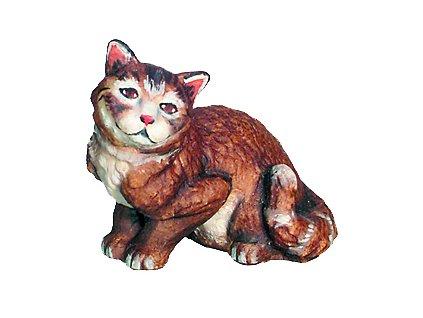 Dřevěná vyřezávaná socha Kočky
