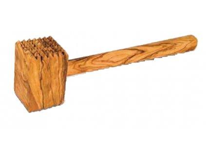 Dřevěná palička na maso z olivového dřeva