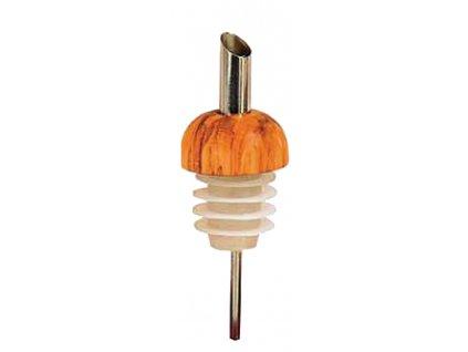 Dřevěná nálevka na láhve z olivového dřeva