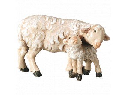 2470 betlem soska drevo figurka ovce malovana