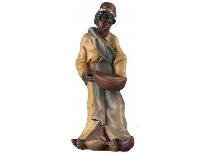 dřevěná vyřezávaná soška krmiče velblouda postava do dřevěného betlému