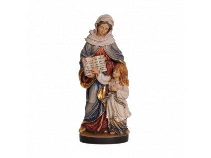 dřevěná soška svata anna soska drevo figurka malovana
