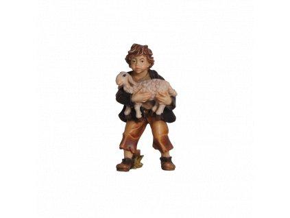 790026 color betlem soska drevo figurka chlapec malovany ovce