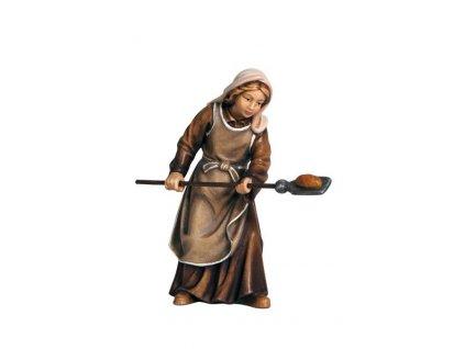 dřevěná sošky ženy vánoční betlém