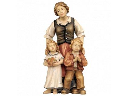 zena deti soska betlem figurka drevo 3