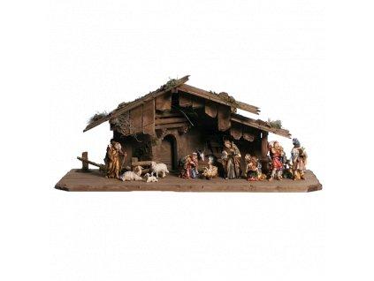 dřevěný betlem svatarodina soska ovce osel trikralove vul poutnik figurka drevo 0