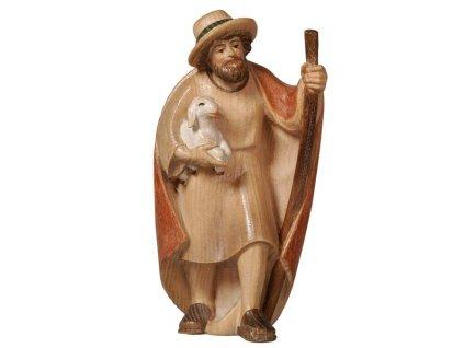 Dřevěná vyřezávaná soška pastýře prodej dřevěných betlému