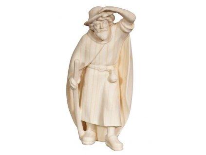 Dřevěná vyřezávaná soška pastýře s holí prodej dřevěných betlémů