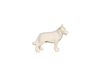Dřevěná, vyřezávaná soška psa
