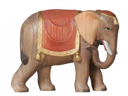 dřevěný vyřezávaný slon do vánočního betlému