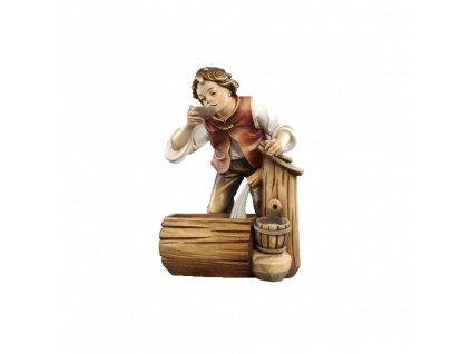 pastýř poutník dřevo betlém vánoce