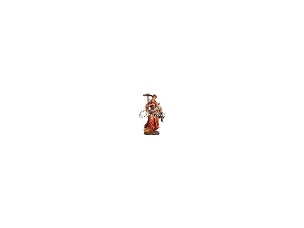 Drewniana figura św. Notburgy