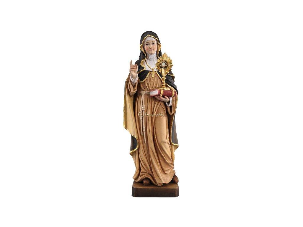 Drewniana figura św. Klary