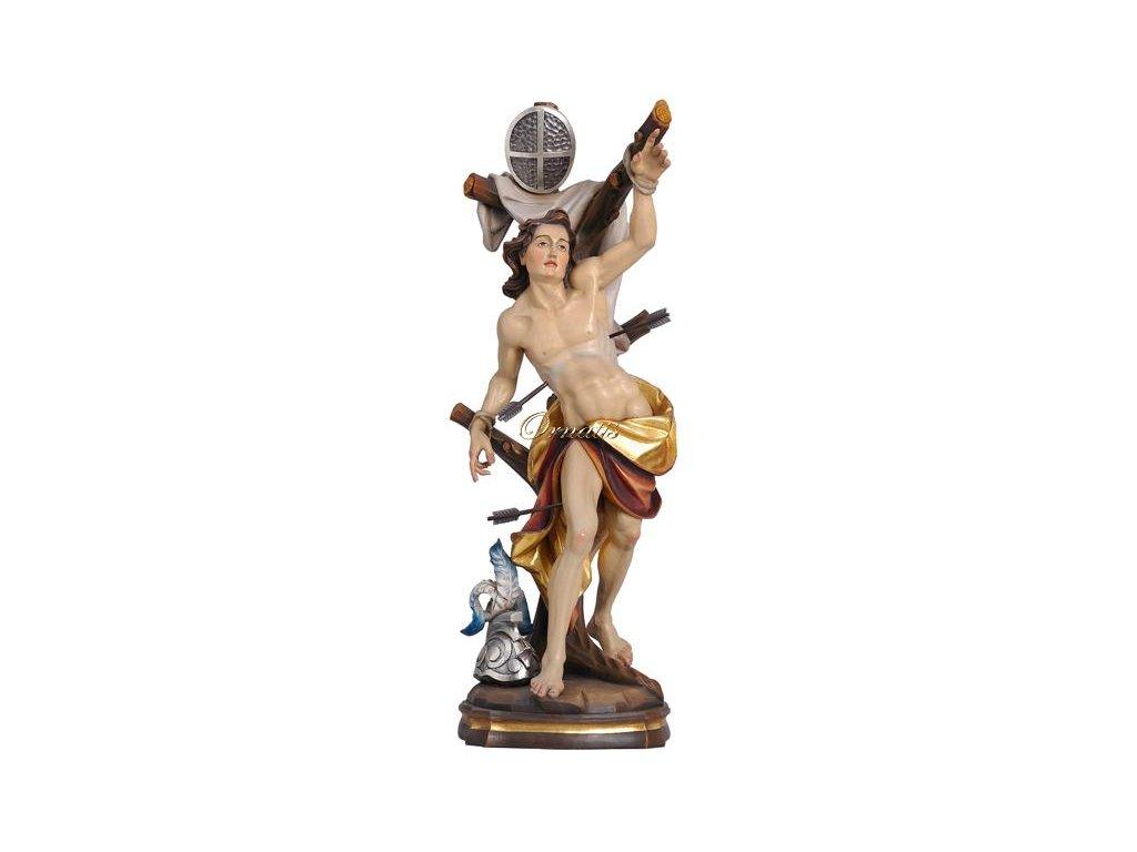 Drewniana statua Świętego Sebastiana
