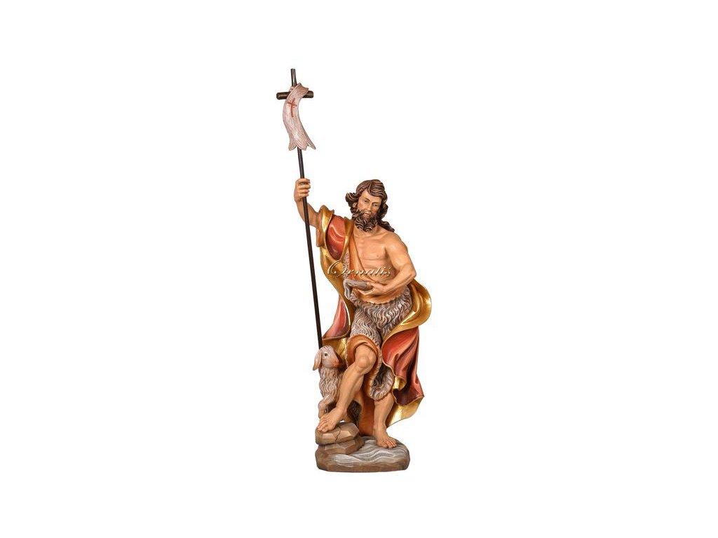 Drewniana figura św. Jana Chrzciciela