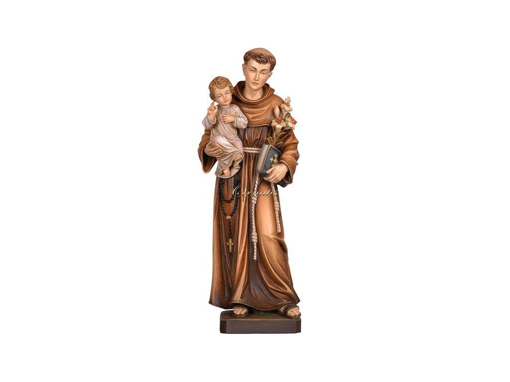 Drewniana statua Świętego Antoniego z Padwy
