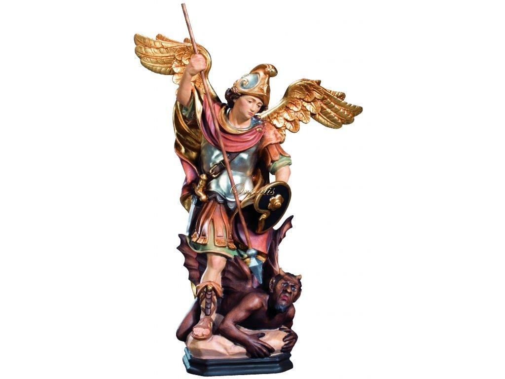 Drewniany rzeźbiony Archanioł Michał