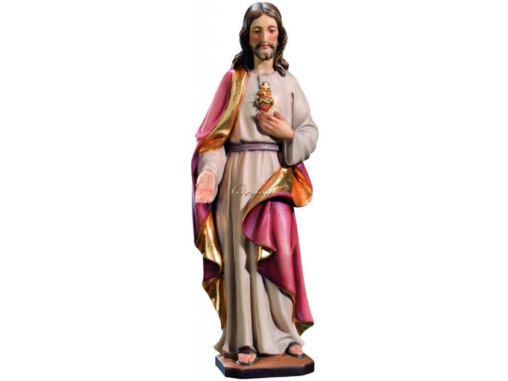 Drewniana figura Najświętszego Serca Jezusowego