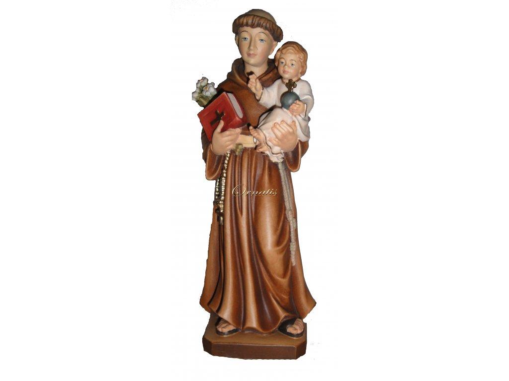 Rzeźbiona w drewnie figura św. Antoniego