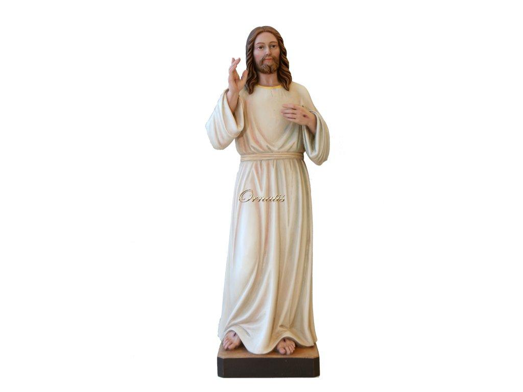 Drewniana rzeźba Miłosierdzia Bożego
