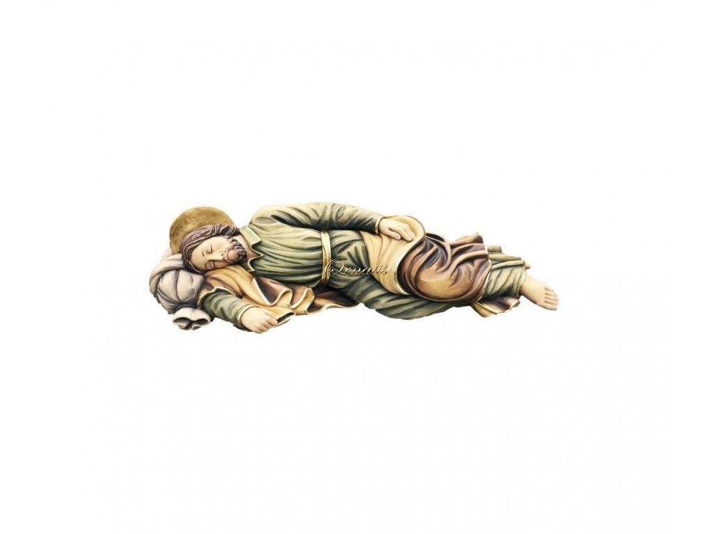 Drewniana rzeźbiona figurka śpiącego św. Józefa