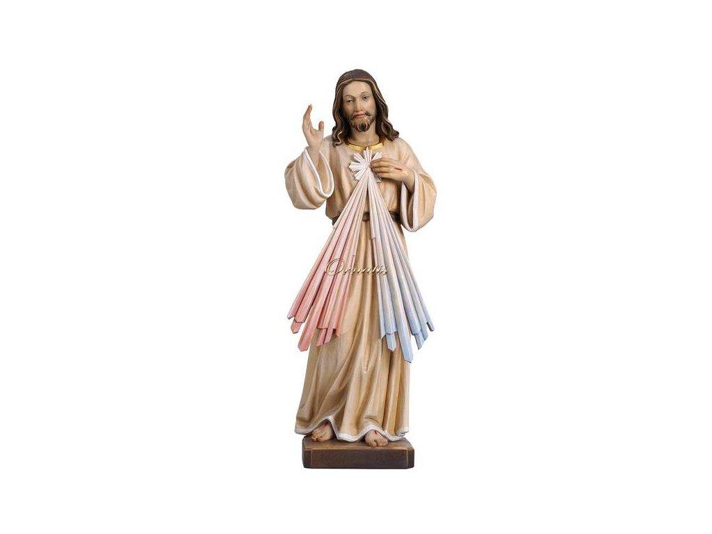 Drewniana, ręcznie malowana figurka Jezusa