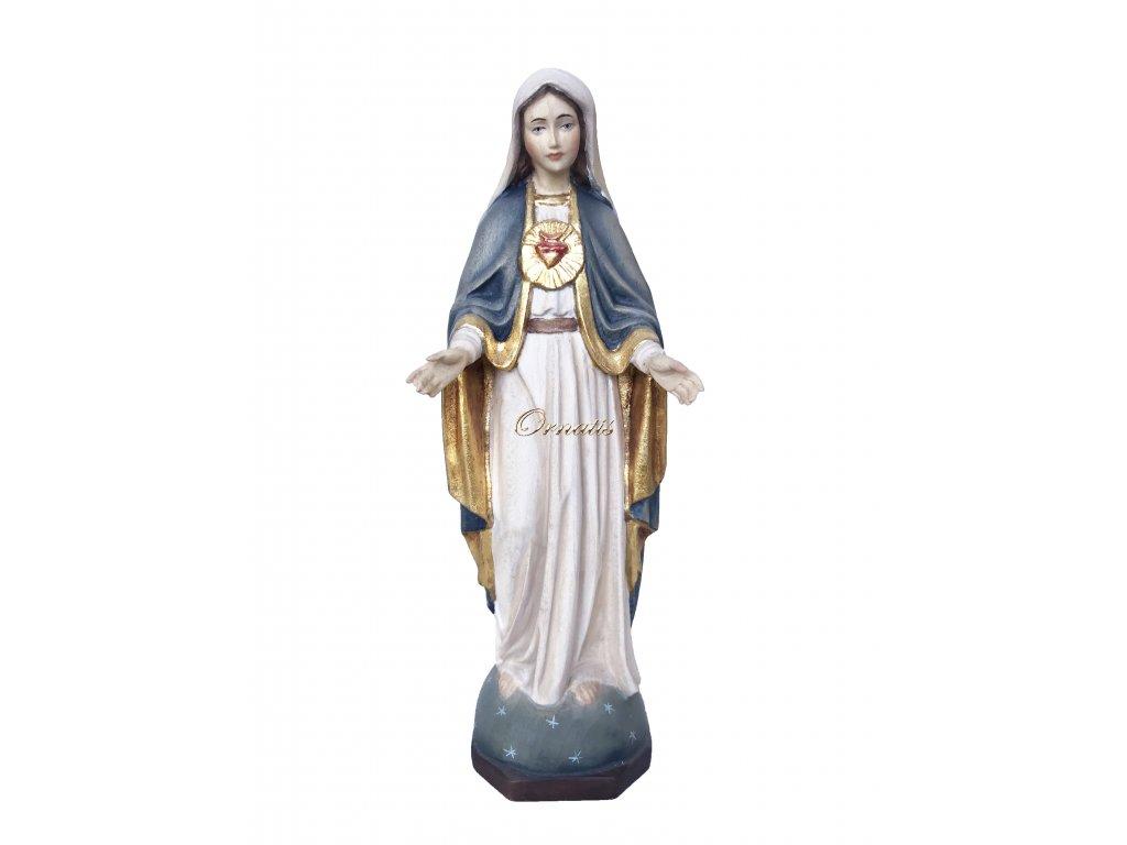Rzeźbiona w drewnie Maryja Najświętszego Serca