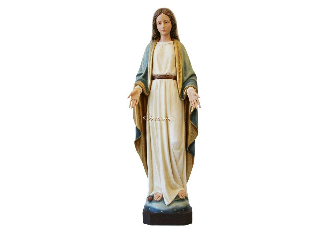 Drewniana rzeźbiona statuetka Niepokalanego Poczęcia