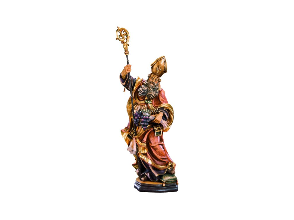 Rzeźbiona w drewnie statuetka Świętego Urbana