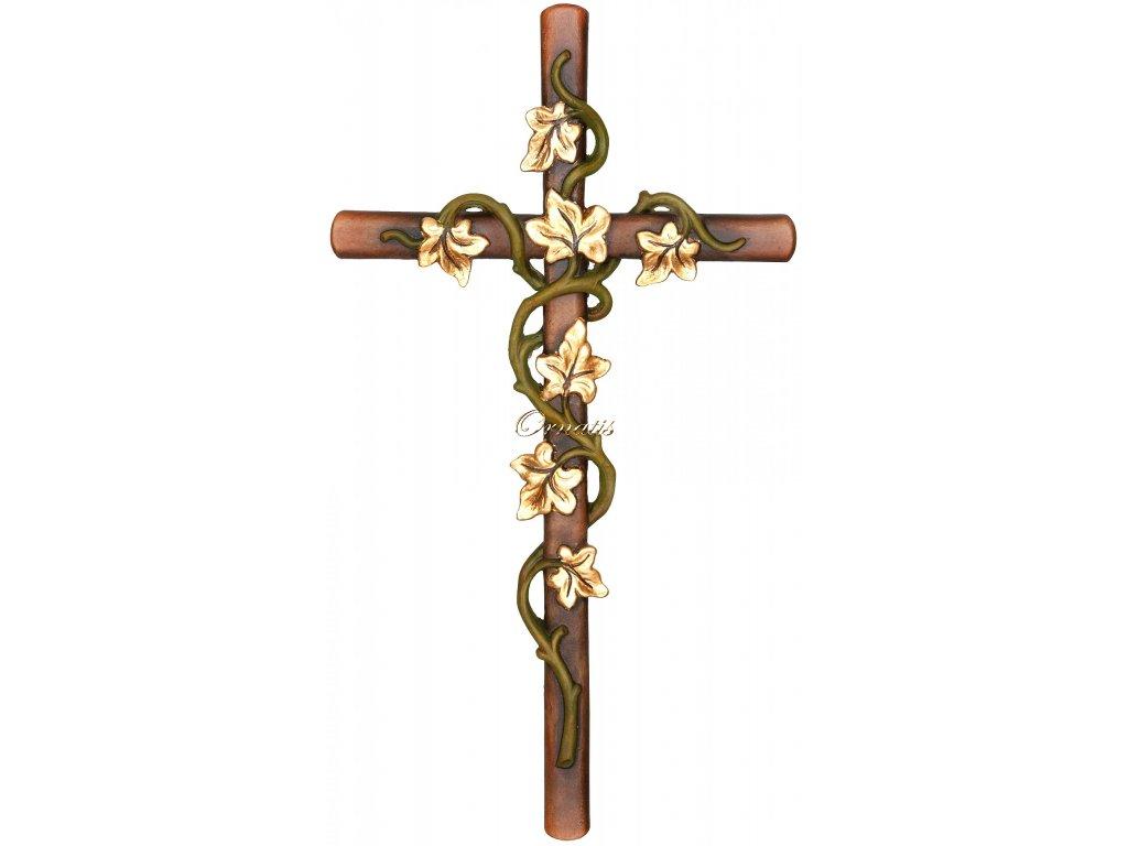 Krzyż z bluszczem