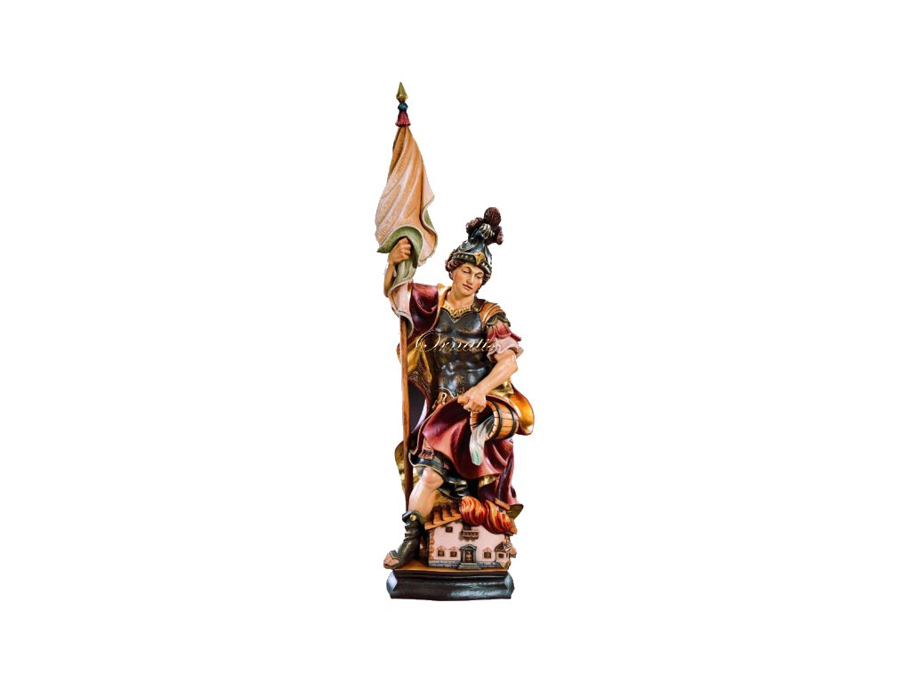 Rzeźbiona w drewnie statuetka Św. Floriana