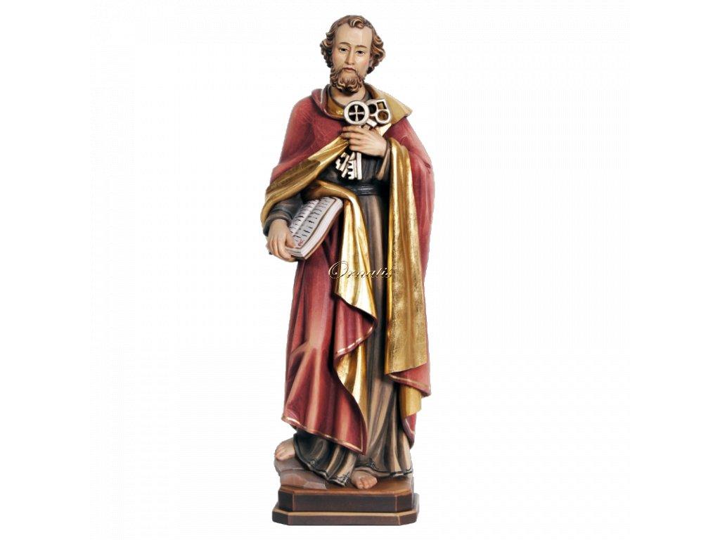 Drewniana rzeźbiona, ręcznie malowana statuetka Święci Petra