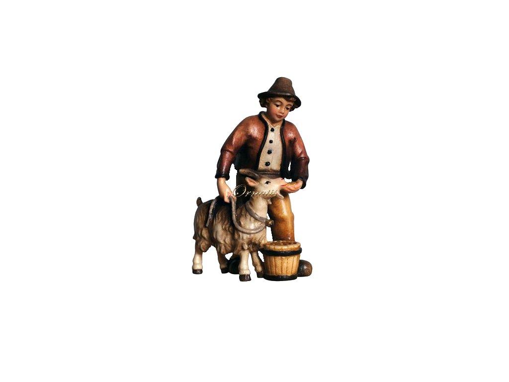 dřevěná vyřezávaná figurka drevo soska chlapecskozou betlem 2